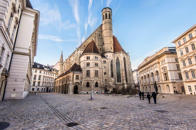 Französische gotische Art Minoritenkirche-Kirche stockfoto