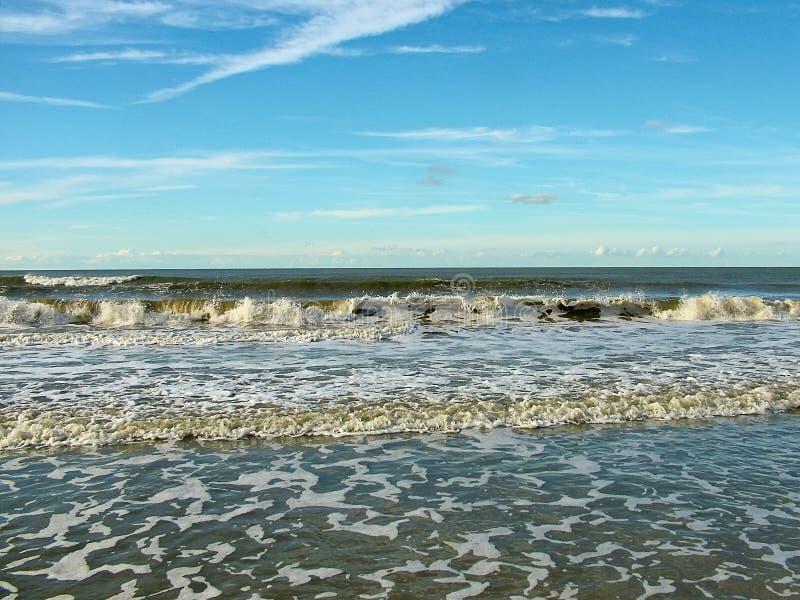 Französische Küste des Ärmelkanals stockbild