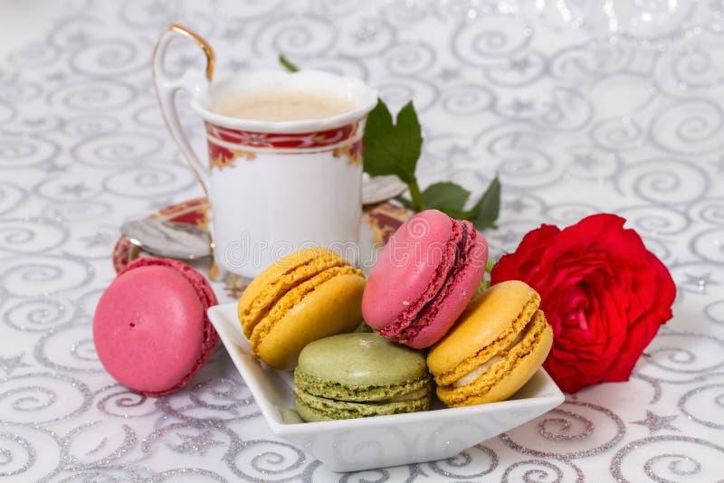 Französische macarons lizenzfreie stockfotos