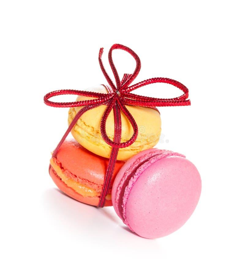 Französische macarons stockbild