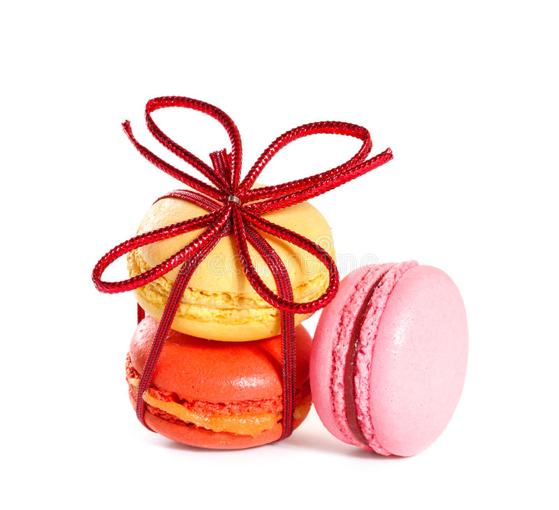 Französische macarons lizenzfreie stockbilder