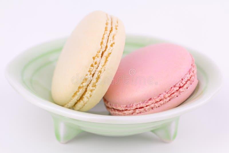 Französische macarons, Abschluss oben stockfotografie