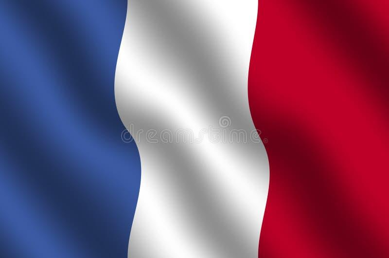 Französische Markierungsfahne lizenzfreie abbildung
