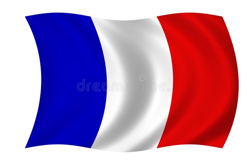 Französische Markierungsfahne stock abbildung