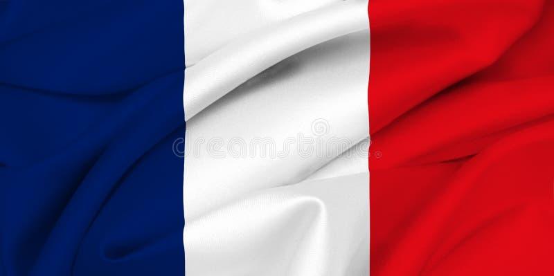 Französische Markierungsfahne - Frankreich stock abbildung