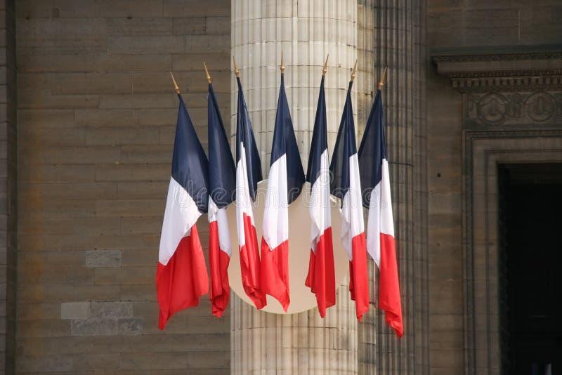 Französische Markierungsfahnen lizenzfreie stockfotos