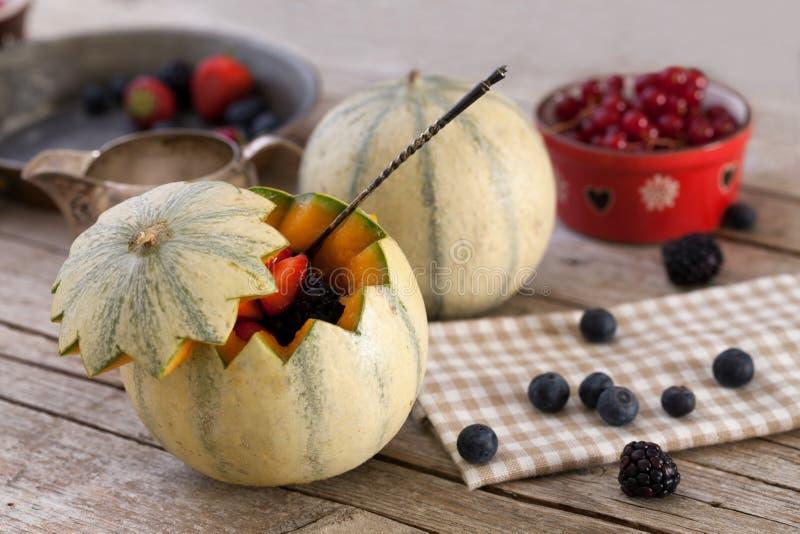 Französische Melonen-Beerenfrüchte lizenzfreie stockfotografie