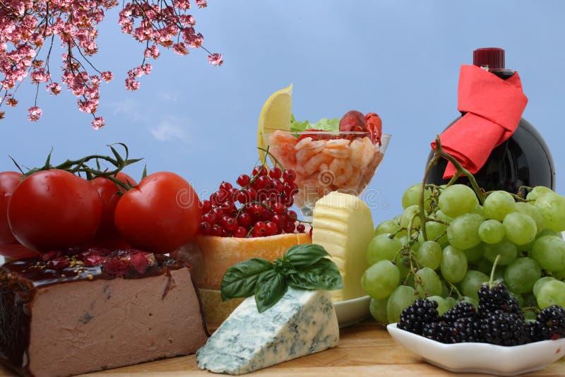 Französische Nahrung lizenzfreie stockfotografie