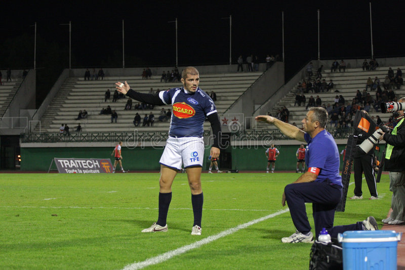Französische Proabgleichung des Rugbys D2 - Narbonne gegen Agen stockbilder