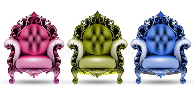 Französische reiche verwickelte Luxusstruktur Viktorianischer königlicher Artdekor stock abbildung