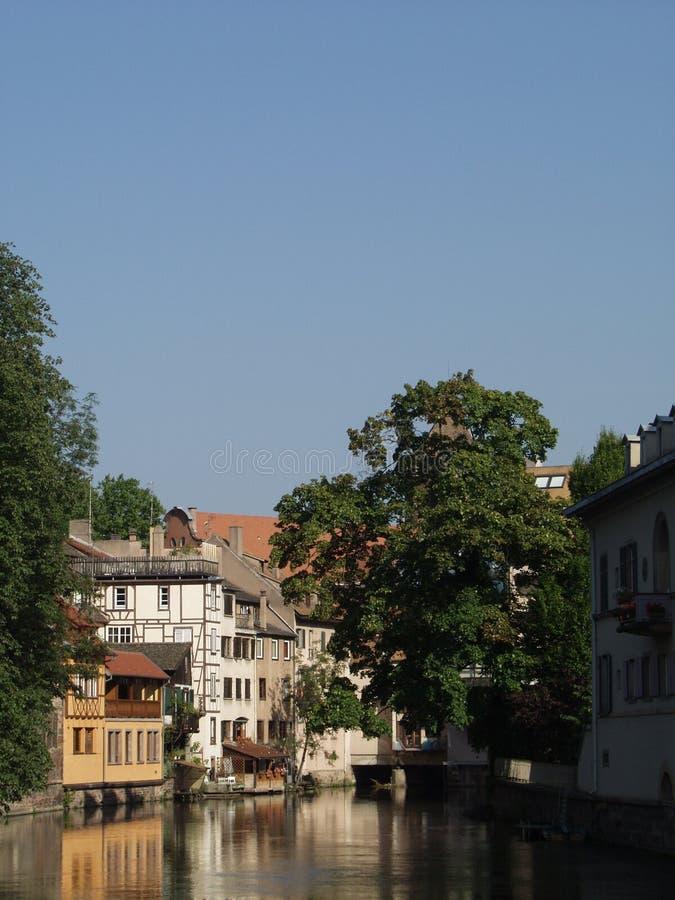Französische Stadt: Straßburg Stockbild