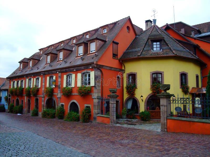 Französische Sterne des Hotels vier in Elsass stockfotografie