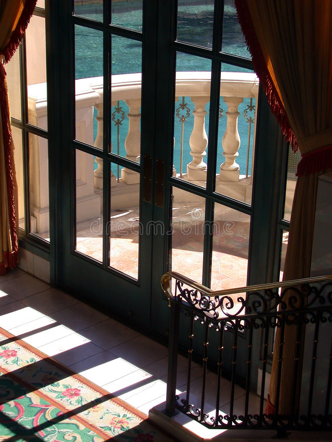 Französische Türen stockbild