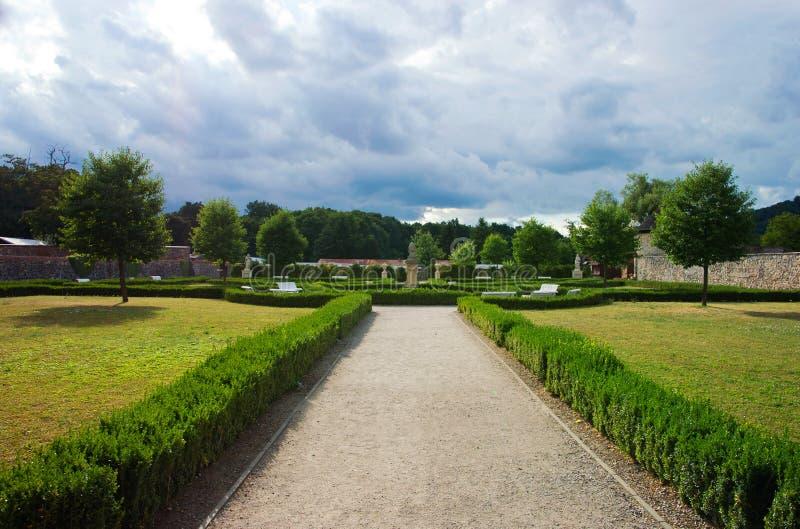 Französischer Garten lizenzfreie stockfotografie