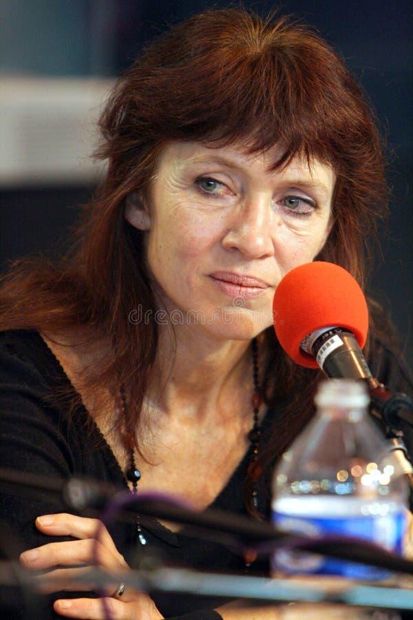 Französischer/kanadischer Verfasser Nancy Huston stockfotos