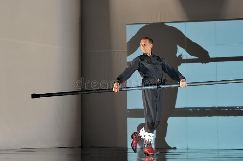 Französischer moderner Tänzer stockfotos