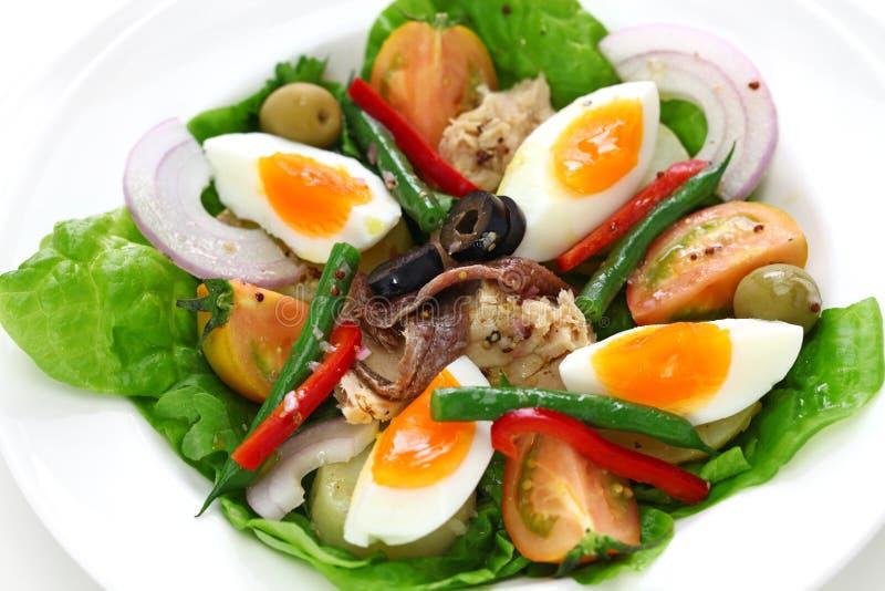 Französischer nicoise Salat lizenzfreie stockfotografie