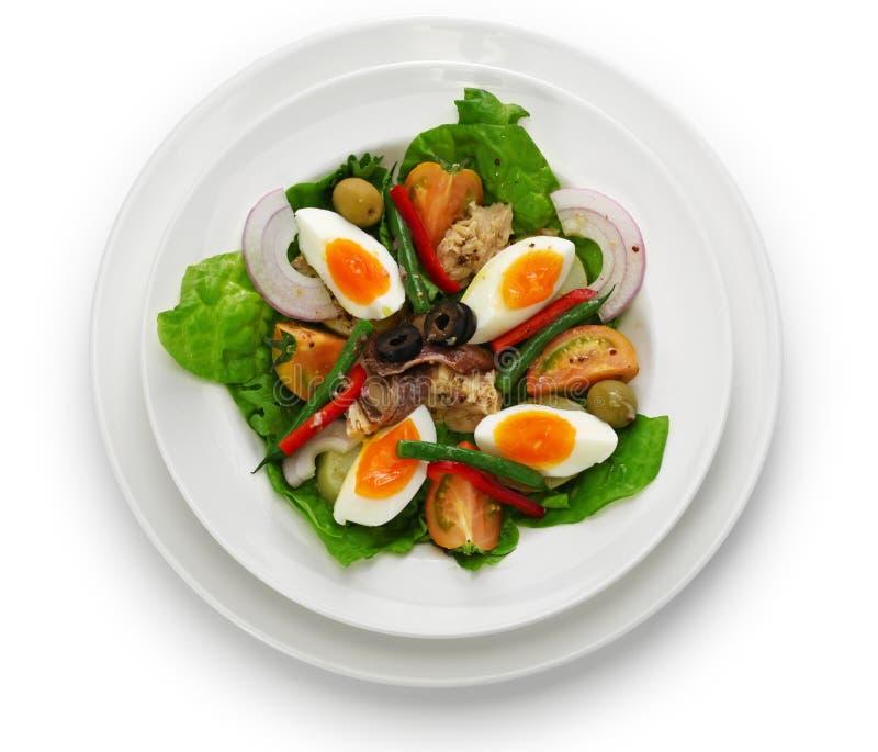 Französischer nicoise Salat lizenzfreie stockfotos