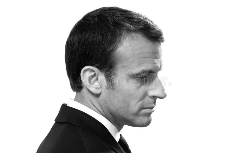 Französischer Präsident Emmanuel Macron stockbild