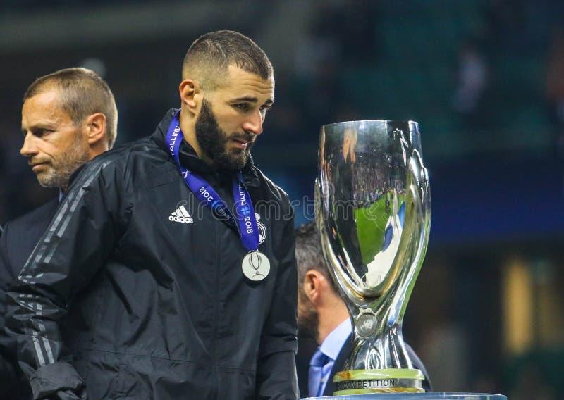 Französischer Profi-Fußballspieler Karim Benzema lizenzfreies stockfoto