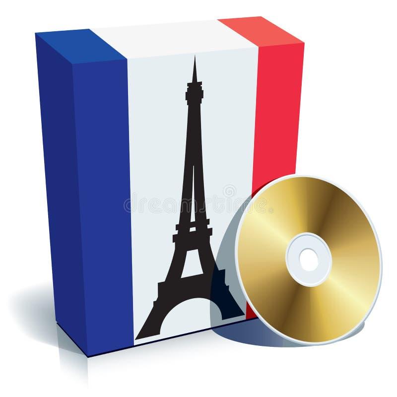 Französischer Software-Kasten lizenzfreie abbildung