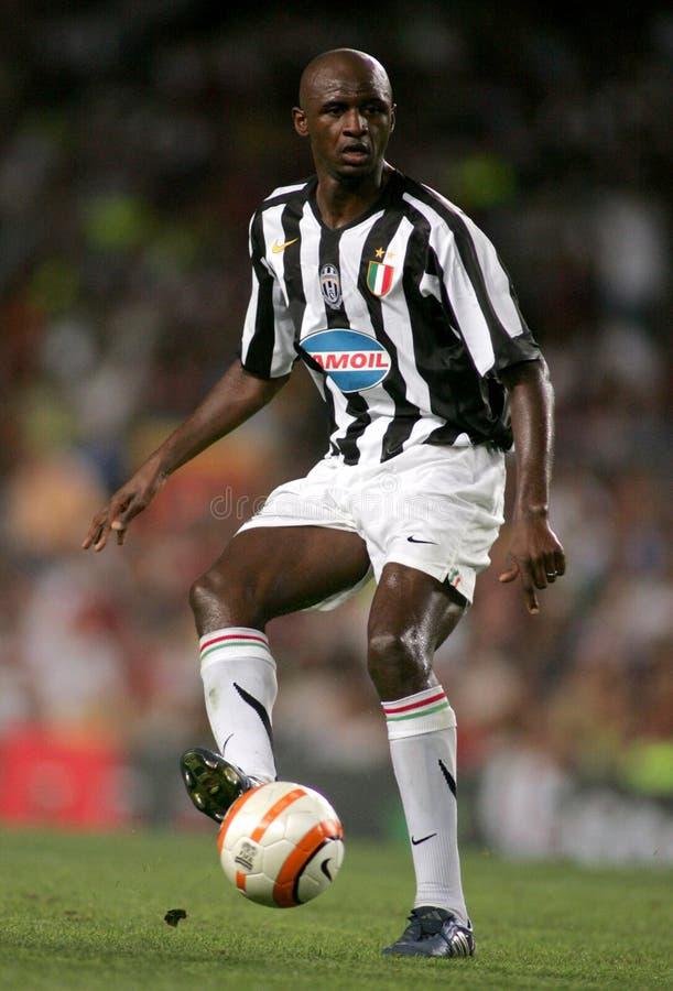 Französischer Spieler Patrick Vieria von Juventus lizenzfreies stockbild