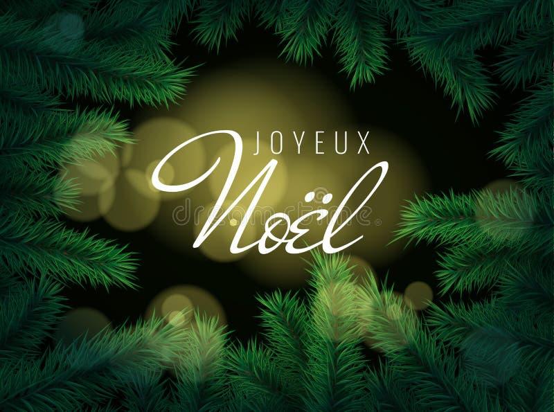 Weihnachten Lizenzfreie Bilder.Joyeux Noel Frohe Weihnachten In Der Französischen Grußkarte Stock