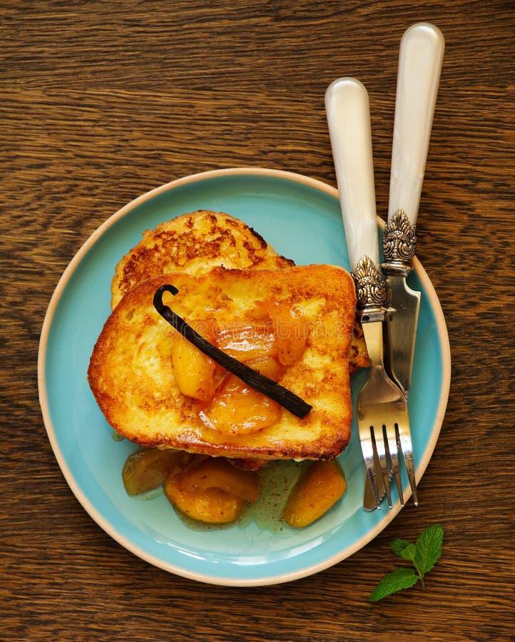 Französischer Toast stockbild