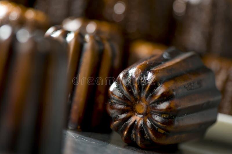 Französischer traditioneller Nachtisch Caneles vom Bordeaux stockbilder