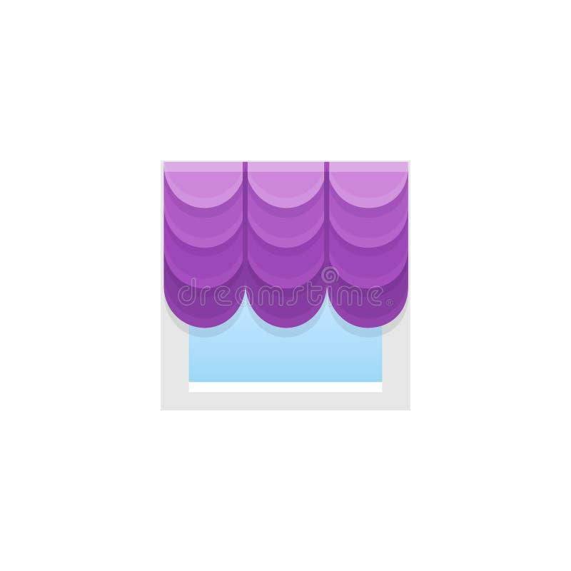 Französischer Vorhang des purpurroten Gewebes mit Drapierung Auch im corel abgehobenen Betrag lizenzfreie abbildung