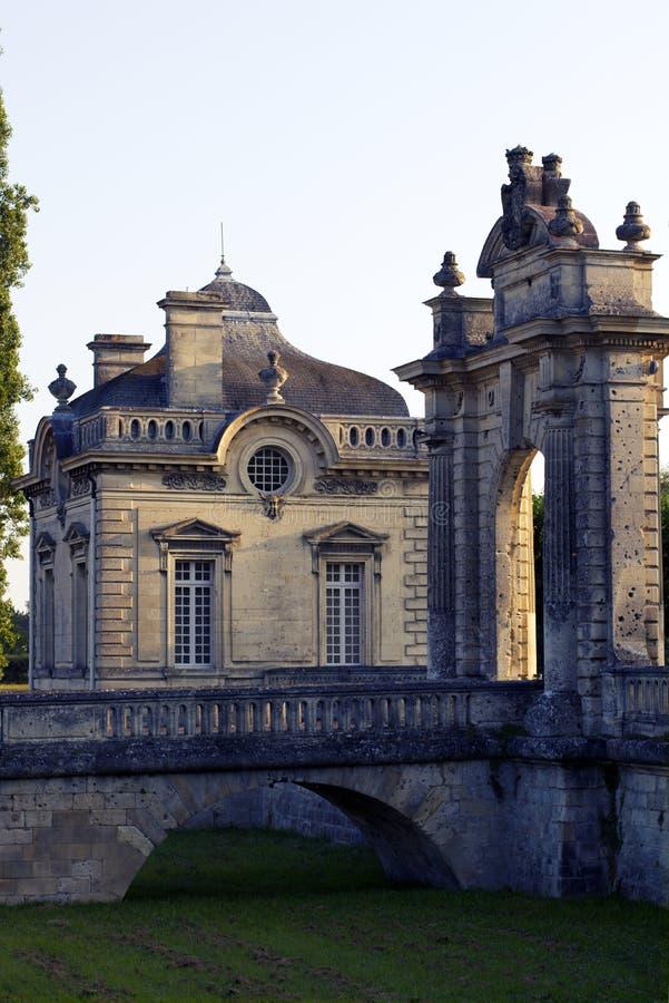 Französisches amerikanisches Schloss Freundschaft Franco-amerikanischen Museums Blérancourt stockfoto