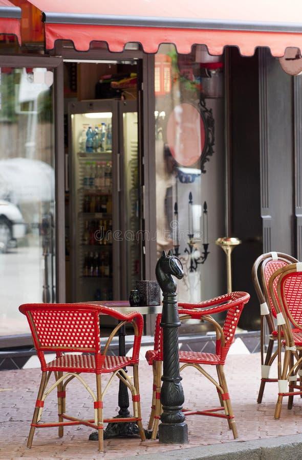 Französisches Artcafé lizenzfreies stockfoto