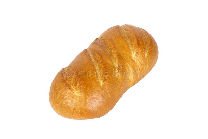 Französisches Brot getrennt auf weißem Hintergrund Abendessen gebacken stockbild