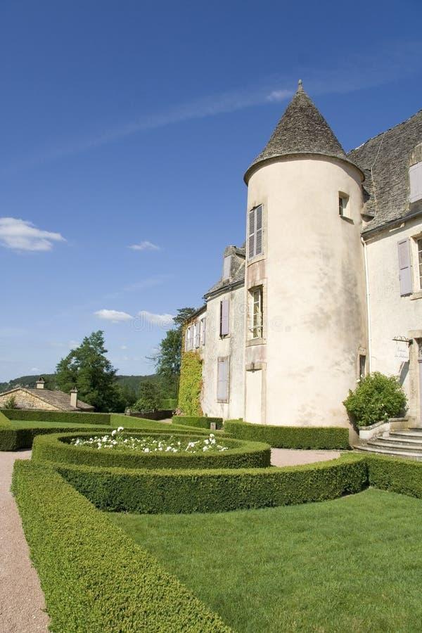Französisches Chateau stockbilder