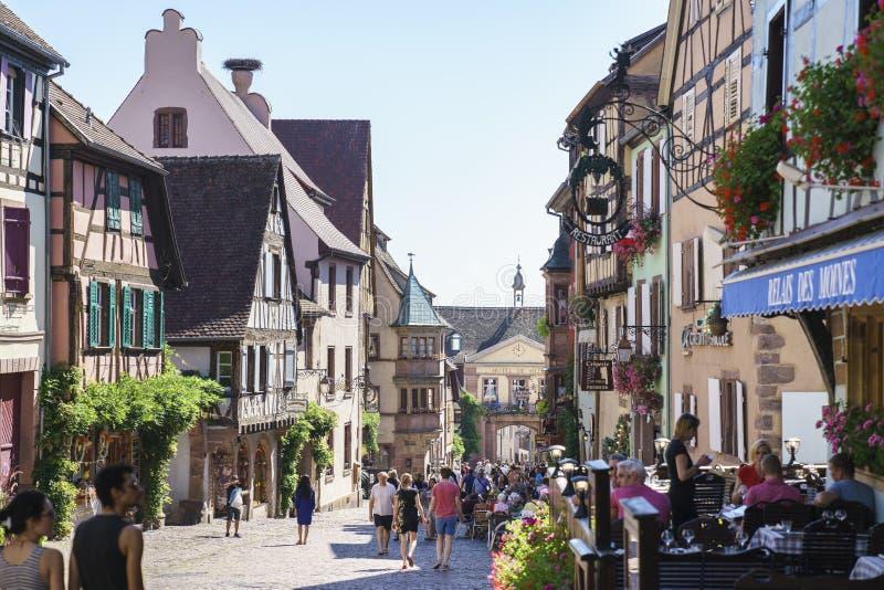 Französisches Dorf stockfotos