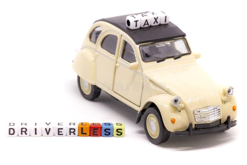 Französisches driverless Taxikonzept stockfotografie