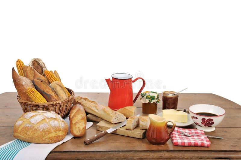 Französisches Frühstück drei lizenzfreie stockbilder