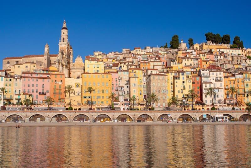 Französisches Riviera - Menton lizenzfreies stockbild