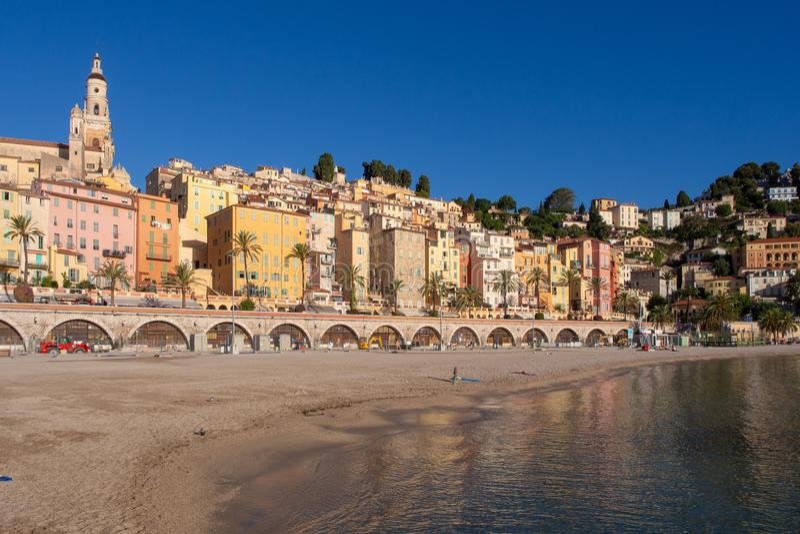 Französisches Riviera - Menton lizenzfreies stockfoto