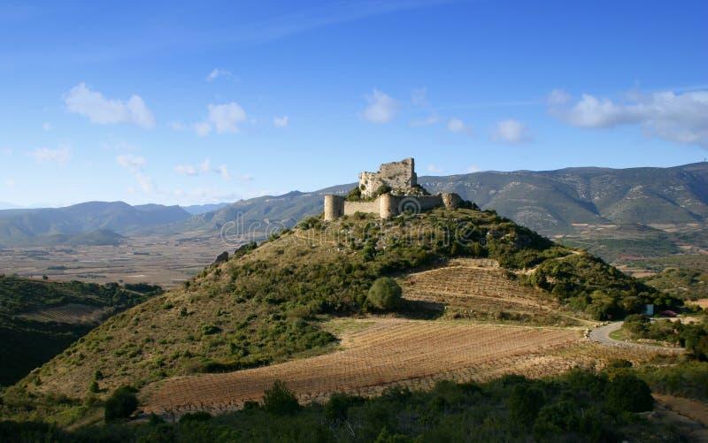 Französisches Schloss Aguilar stockfotografie