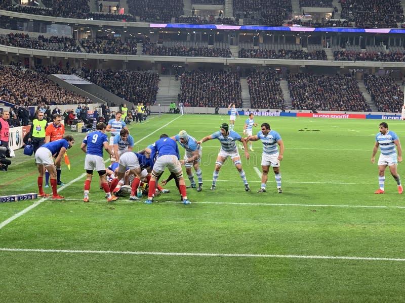 Französisches Stadion des Rugbyspiels lizenzfreie stockbilder