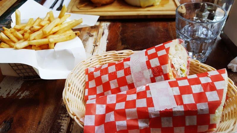 Französisches Stangenbrotsandwich lizenzfreie stockbilder