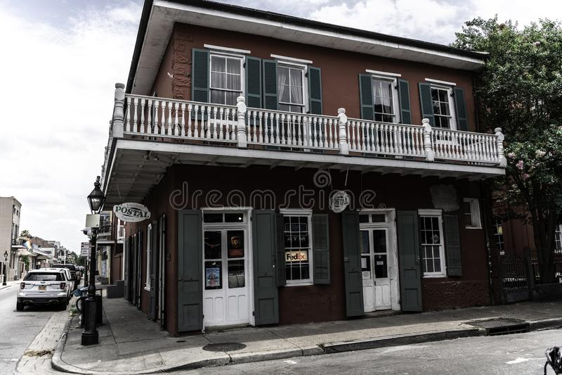 Französisches Viertel New Orleans und seine ikonenhaften Balkone lizenzfreies stockbild