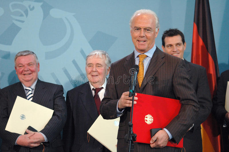 Franz Beckenbauer. FEBRUARY 8, 2006 - BERLIN: Franz Beckenbauer at a presentation in the Chanclery in Berlin royalty free stock photo