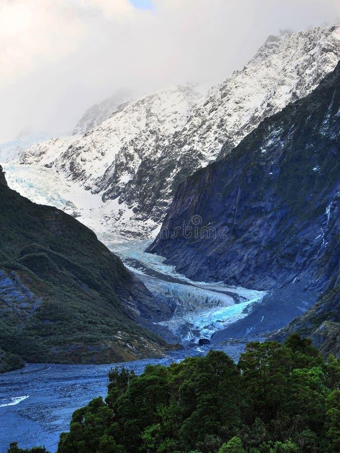 franz glaciär josef arkivfoto