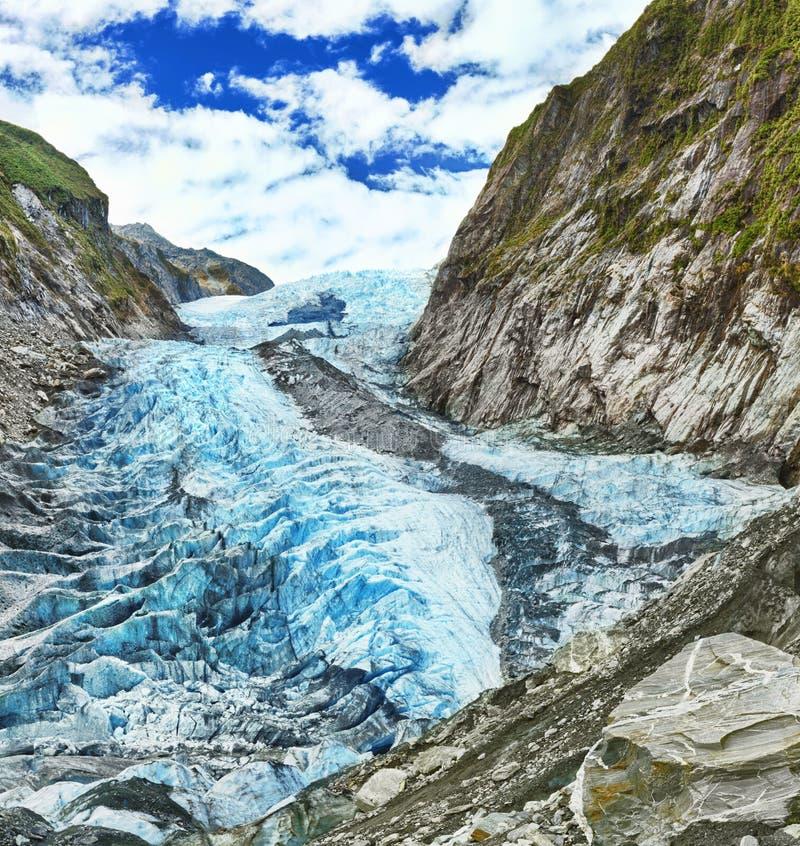 franz glaciär josef royaltyfria foton