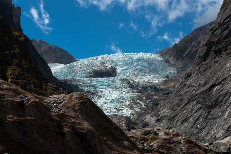 franz glaciär josef New Zealand royaltyfri bild