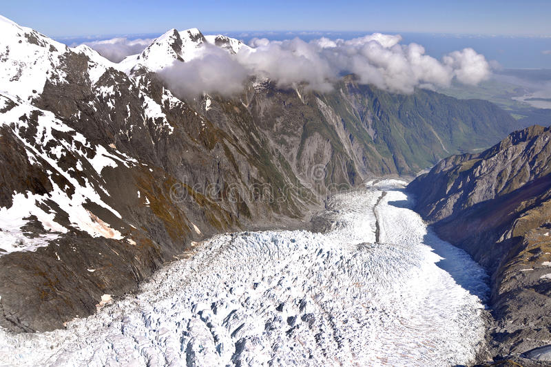 franz glaciär josef New Zealand arkivfoto
