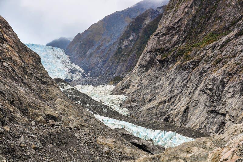 franz glaciär josef New Zealand arkivbild