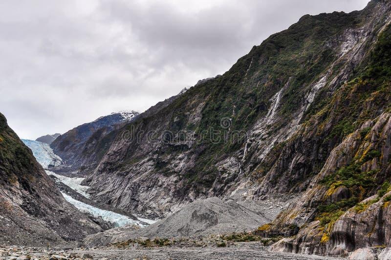 franz glaciär josef New Zealand fotografering för bildbyråer